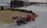Ground feeding in a windrow